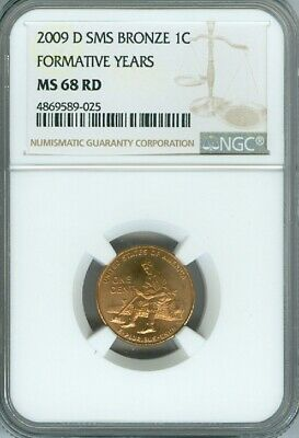 2009 D Lincoln Cent Formative Years Ngc Ms68 Red Sms