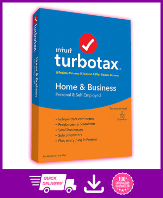 Intuit TurboTax Home & Business 2019 🔥 🔥 Windows 🔥 🔥 Fast Delivery 🔥