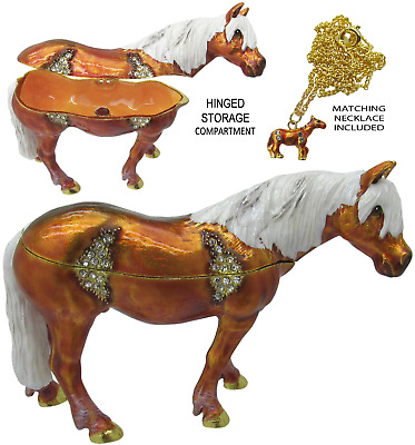 Horse Jeweled Trinket Box with Austrian Crystals #6