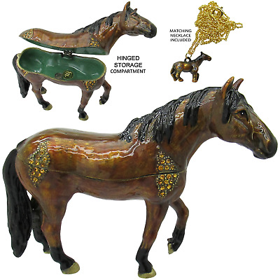 Horse Jeweled Trinket Box with Austrian Crystals #5