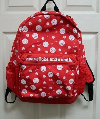 Tilly's Diamond Supply Co. X Coca-Cola Smiley Red Backpack NWOT
