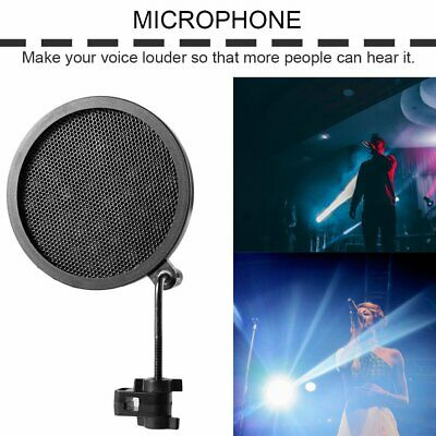 PS-2 Double Layer Studio Microphone Mic Wind Screen Pop Filter For Recording CR
