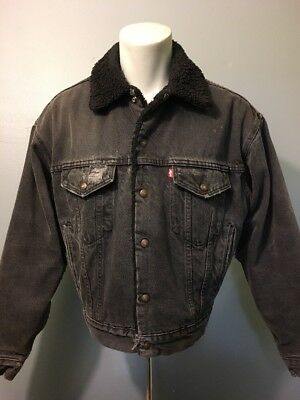 VINTAGE 80S 90S Levis Sherpa IN Pile Camionista Jean Giacca