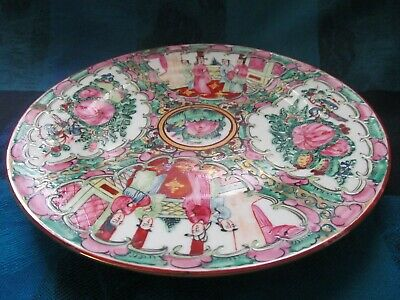 Antique Chinese Famille Rose Export Porcelain Hand Painted Plate - Vgc