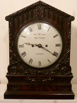 Superb English fusee bracket clock by James McCabe London