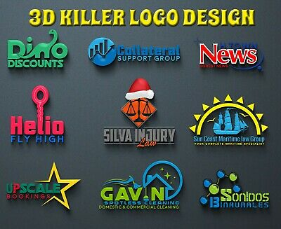 Professional 3D Modern Logo Design Service - UNLIMITED REVISIONS - 48HR Delivery