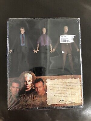 Buffy The Vampire Slayer Watcher's Guide Box Set of 3 Figures Giles Wesley Spike