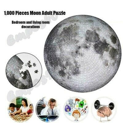 The Moon Puzzle 1000 Pieces Kids & Adult Planets Maps Jigsaw Puzzle