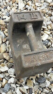 Vintage Avery Iron 14Lb Weight Training Potato Scales  Garden Ornament Door Stop