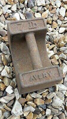 Vintage Avery Iron 7Lb Weight Training Potato Scales  Garden Ornament Door Stop