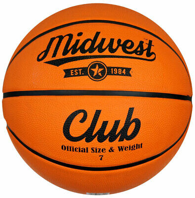Midwest Club Indoor Outdoor Rubber Basketball Ball Orange - Size 7