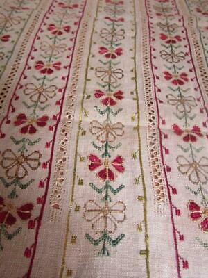 Antique 19th Century Ottoman Greek Islands Embroidered Textile