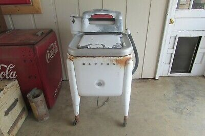 Antique Vintage Maytag Wringer Washing Machine WORKS!! #1312