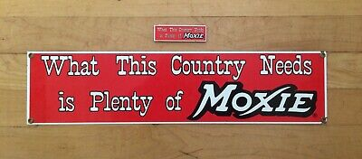 Ande Rooney Tin sign MOXIE What This Country Needs Is Plenty of Moxie Drink Free
