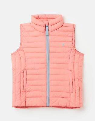 Joules Girls Croft Padded Gilet  - PINK