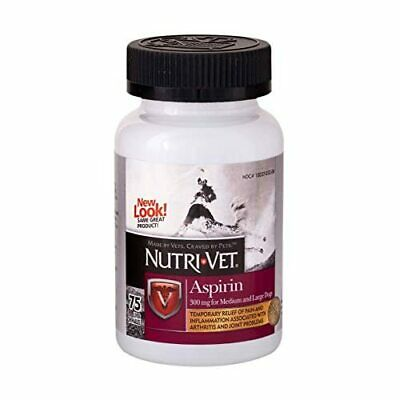 Nutri-Vet Aspirin Chewables for Large Dogs, 75 Count