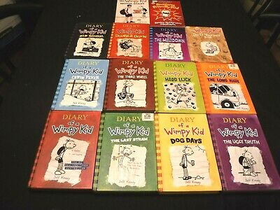 14 DIARY OF A WIMPY KID books  #1, 3-11,13 + 3 more by Jeff KINNEY 11 hardcovers