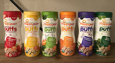 Happy Baby Organic Superfood Puffs Variety Pack Of 6, 2.1 oz