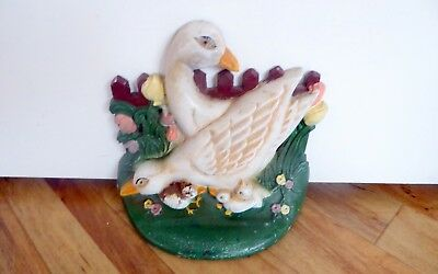 Collectable Cast Iron Doorstop featuring Two Ducks