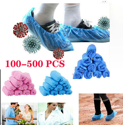 500X Disposable Non Woven Thick Shoe Cover Head Cover Cap waterproof protective