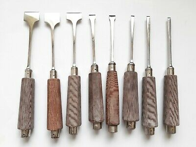 Lot Of 8 Various Surgical Bone Osteotomes And Chisels - Orthopaedic Instruments