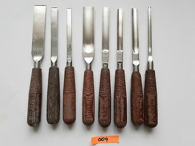 Lot Of 8 Howse Surgical Bone Osteotomes & Chisels Orthopaedic Instruments