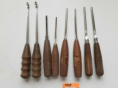 Lot Of 8 Various Surgical Curettes Osteotomes Chisels - Orthopaedic Instruments