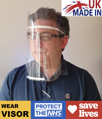 High Quality Face Shield Visor PPE Protection Reusable Guard Safety Comfort Wear