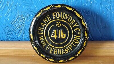 Vintage Cast Iron 4Lb Weight From The Crane Foundry Co. Wolverhampton