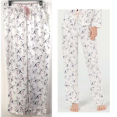 Charter Club Womens Polyester Satin Butterfly Print Pajama Pants Choose Size New