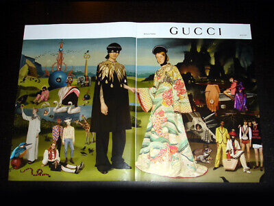 GUCCI 2-Pg Magazine Print Ad Spring 2018 UTOPIAN FANTASY animals couple