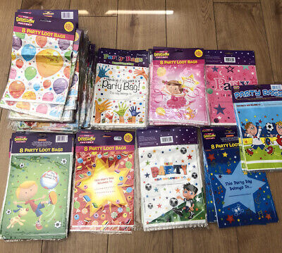 Wholesale Joblot 50 X Party Loot Bags Mixed Designs All New