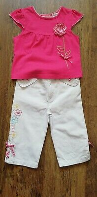 KIDS HEADQUATERS Designer  Girls Trouser & Top Set Age 5 yrs Immuclate