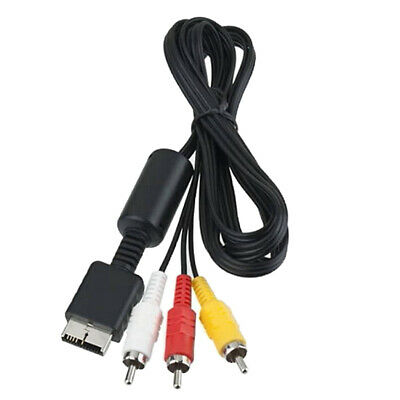 1.8m Audio Video 6ft AV Cable to 3 RCA TV Lead for Sony PS1 PS2 PS3 Console