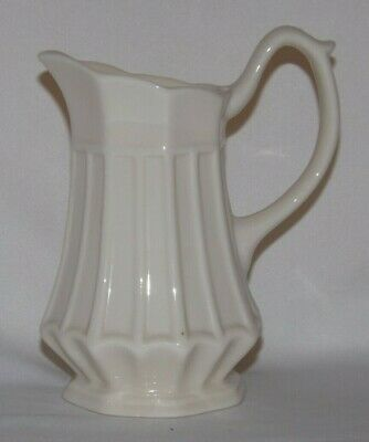 Vintage Two's Company Thatcham Creamware Creamer*Pitcher*Creamy White*Ribbed