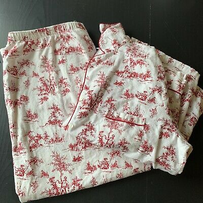 Charter Club Red Toile Flannel Women's Pajama Set 2XL