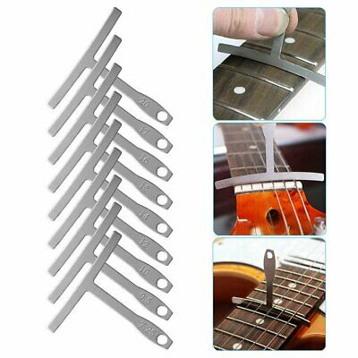 Set of 9 Understring Radius Gauge Ruler Luthier Tools for Guitar and Bass Setup