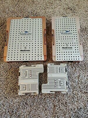 Medtronic Screw/Plate Autoclavable Instrument Cases. EMPTY CASES
