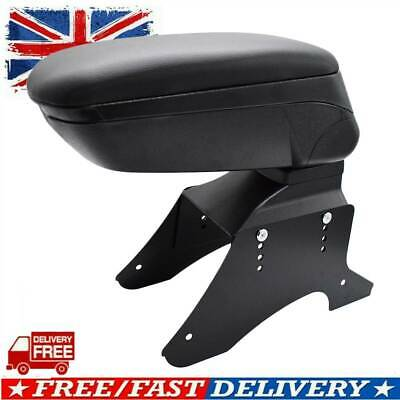Black Red Stitch Top Sliding Armrest Centre Console For Ford Connect Courier