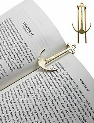 Wisdom Page Anchor Book Page Holder,Clips,Bookmark,Holds Book Open (Gold) Nice