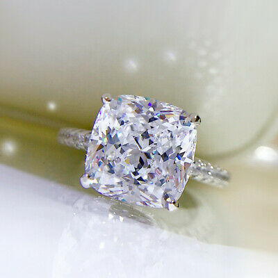 Sunshine Women Jewelry 925 Silver Rings White Sapphire Wedding Ring Sz 6-10