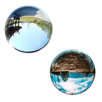 Clear Glass Crystal Ball Healing Sphere Photography Props Gifts L3D4