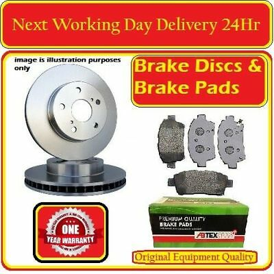 CHECK SIZE 314MM VW VOLKSWAGEN TRANSPORTER T5 REAR 2 BRAKE DISCS AND PADS