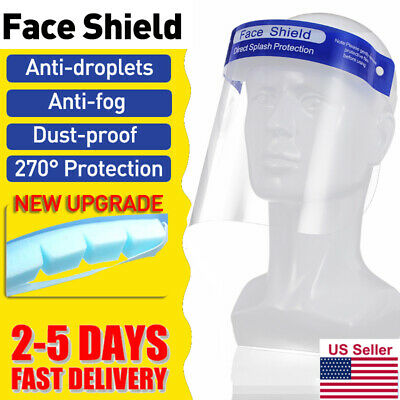 10x Safety Full Face Shield Medical Clear Dental Visor Glasses Eye Protect Cover