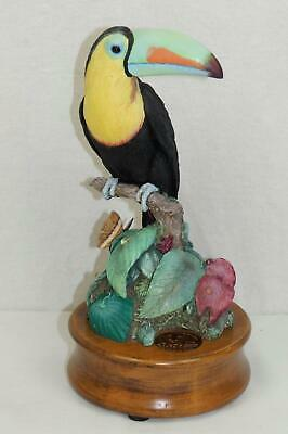 World Wildlife Fund 1992 Willitts Designs Keel Billed Toucan Figure W/ Music Box