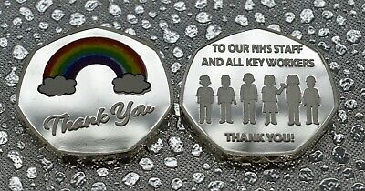 NHS Frontline Staff & UK Key Workers THANK YOU Coin. Charity Commemorative.