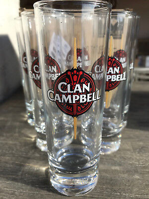 Lot De 6 Verres Tube 22 Cl A Whisky Clan Campbell Neufs No Jb  William Lawson