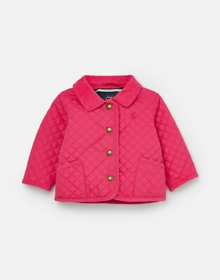 Joules Baby Girls Mabel Quilted Coat  - PINK Size 6m-9m