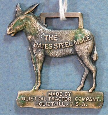The Bates Steel Mule Oil Tractor Joliet Illinois '84 MW Collector Watch Fob X2