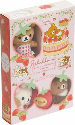 Rilakkuma Strawberry Cake Recipe & Plush Toy Set by San-x - Japanese Import